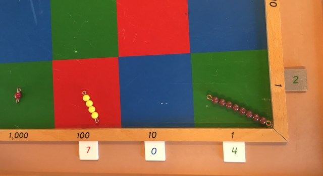 Montessori multiplication