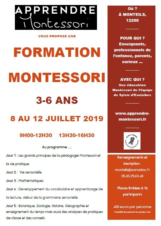 Une formation Montessori dans une école publique