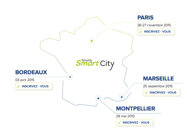 Les rendez-vous du Forum Smart City 2015