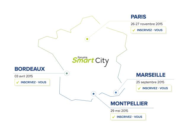 Les rendez-vous du Forum Smart City 2015
