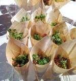 Tartare de boeuf fumé et grillé au pesto de tomates séchées et parmesan - Resto-Pub Garby