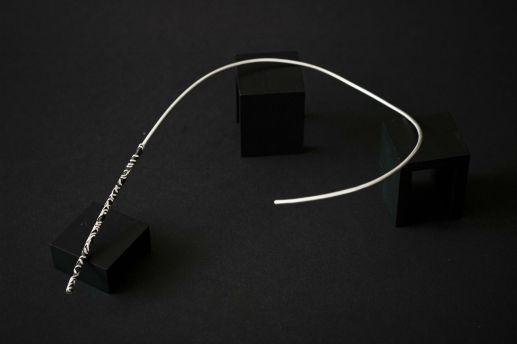 Tour de cou en argent collection Chronos Black Silver