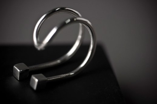 Bague I en argent collection Curve