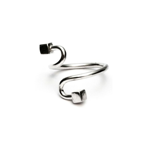 Curve silver ring III