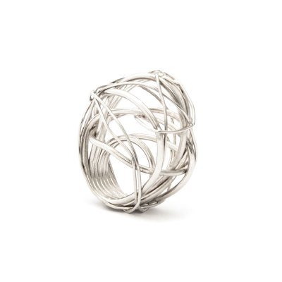 Nest I silver ring