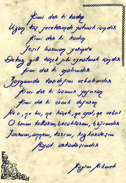 Manuscrit Nazim Hikmet