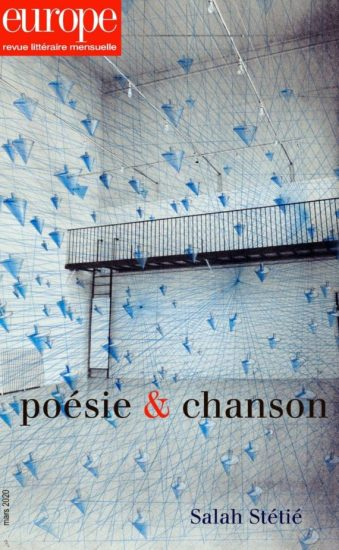Poésie et chanson revue europe