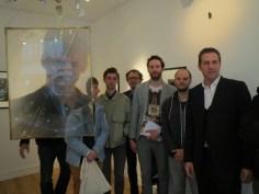 A la galerie Le Minotaure - De gauche à droite : Evariste Richer (derrière la lentille de Véronique Joumard) Aldéric Trével, Jean-Marie Appriou, Mathieu Mercier, Benoit Pype, Maxime Rossi et Benoit Sapiro