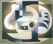 CHARCHOUNE 1923 COMPOSITION CUBISME ORNEMENTAL