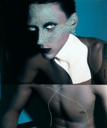 Galerie Madé : Jean-François Lepage - Inside the mirror Jean-François Lepage est l'auteur d'une photographie réalisée sur le fil du rasoir : souvent, la main du photographe vient, après la prise de vue, déranger l'anatomie du corps, la déconstruire, à coups d'incises sur le négatif, pour reconstruire une image neuve, multiple.