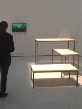 Premier dessin, 2011 Tables en bois et acier, gommes, mines de critériumPrésenté par la galerie Aline Vidal