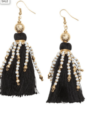 Can't get enough of the tassel trend. These beauties are from H&M. You'll need them in every color.http://www.hm.com/us/product/46828?article=46828-B