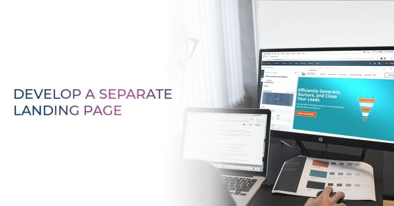 Develop a Separate landing page