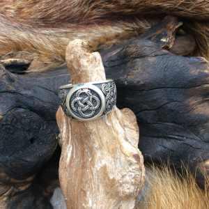 Bague en argent symbole Ouroboros