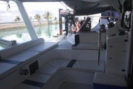Comfortable and airy rear deck is excellent for entertaining