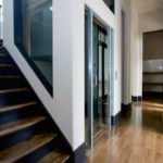 Inline gear drive custom home elevator