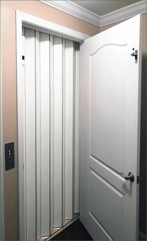 Home Elevator Accordion Gate White Laminate Panels