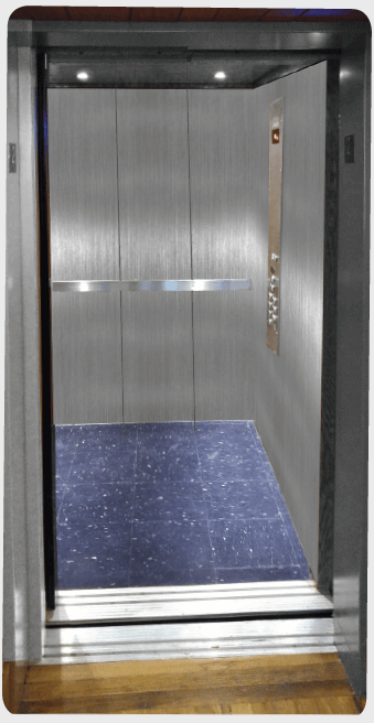 Brushed Stainless Steel Elevator Car