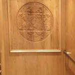 Symmetry LU/LA Church Elevator Carved Wall installed by Arrow Lift