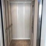 Interior view Symmetry LULA Elevator steel cab applied panels
