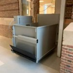 Symmetry VPL-UL Grey flip-up ramp in school