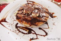 Chocolate chip pancakes from House of Pancakes, Tobago