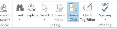 Skewer Click in SharePoint Designer 2013