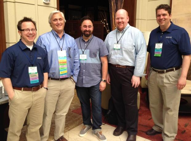 All 5 #SharePoint MVPs from @SPC_ORG 2014!