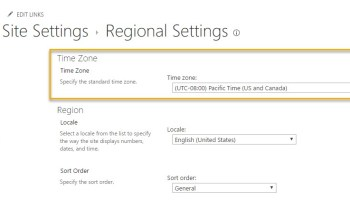 Set Default Site Time Zone in Office 365 | Marc D Anderson's