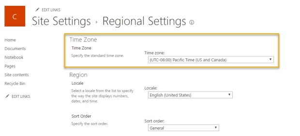 Beware the Office 365 Group -Based Site Regional Settings!!! | Marc