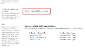 Hidden Content Type Hub on Office365 Tenants | Marc D