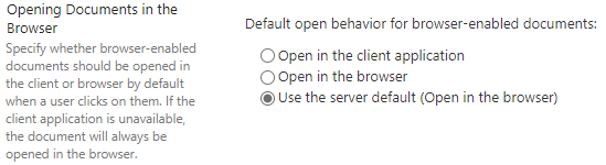 Use the server default