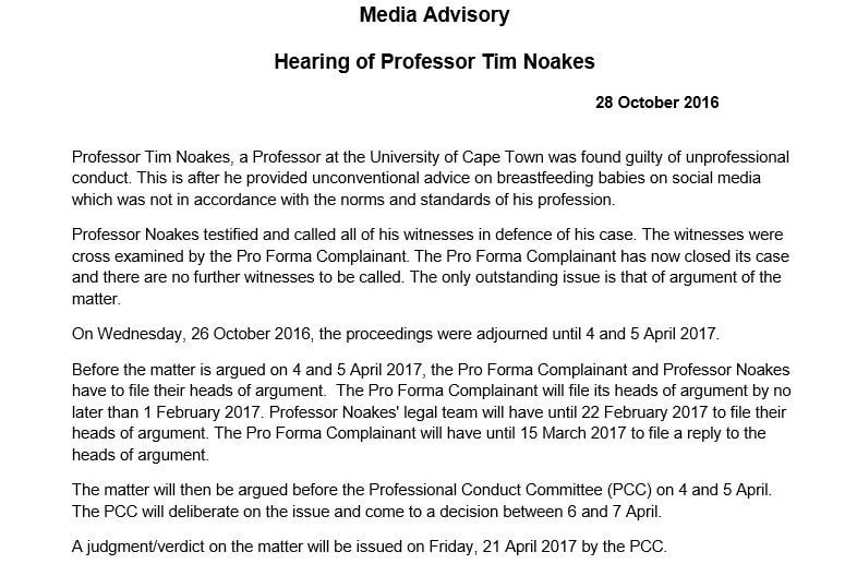 A tale of two conspiracies from the Noakes hearings