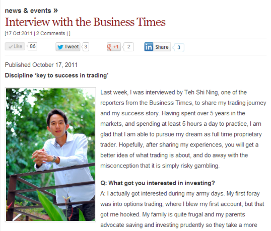 Business Times Interview