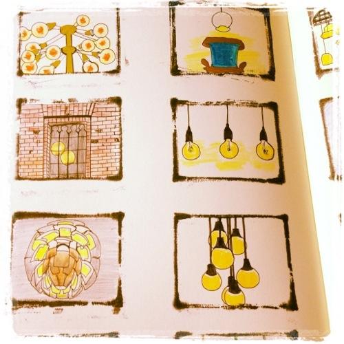 デンマーク旅行の絵日記を作成中!旅モレスキン。