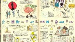 (ブログ記事復刻版)モレスキン絵日記:鎌倉編(まめさんぽ)2011年12月
