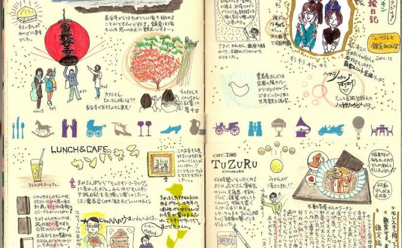 モレスキン絵日記: 鎌倉まめさんぽ 2011年12月(ブログ記事復刻版)
