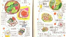 モレスキン絵日記:蟹会(蟹座生まれモレスキナーの会):南青山野菜基地
