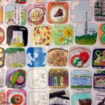 モレスキンのマンスリー絵日記。文字なくても思い出せるから面白い。