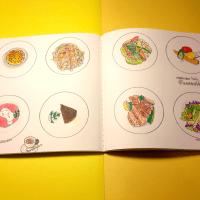 【モレスキンアート】モレスキンのスケッチアルバムに描いたディナーの思い出。全体像。