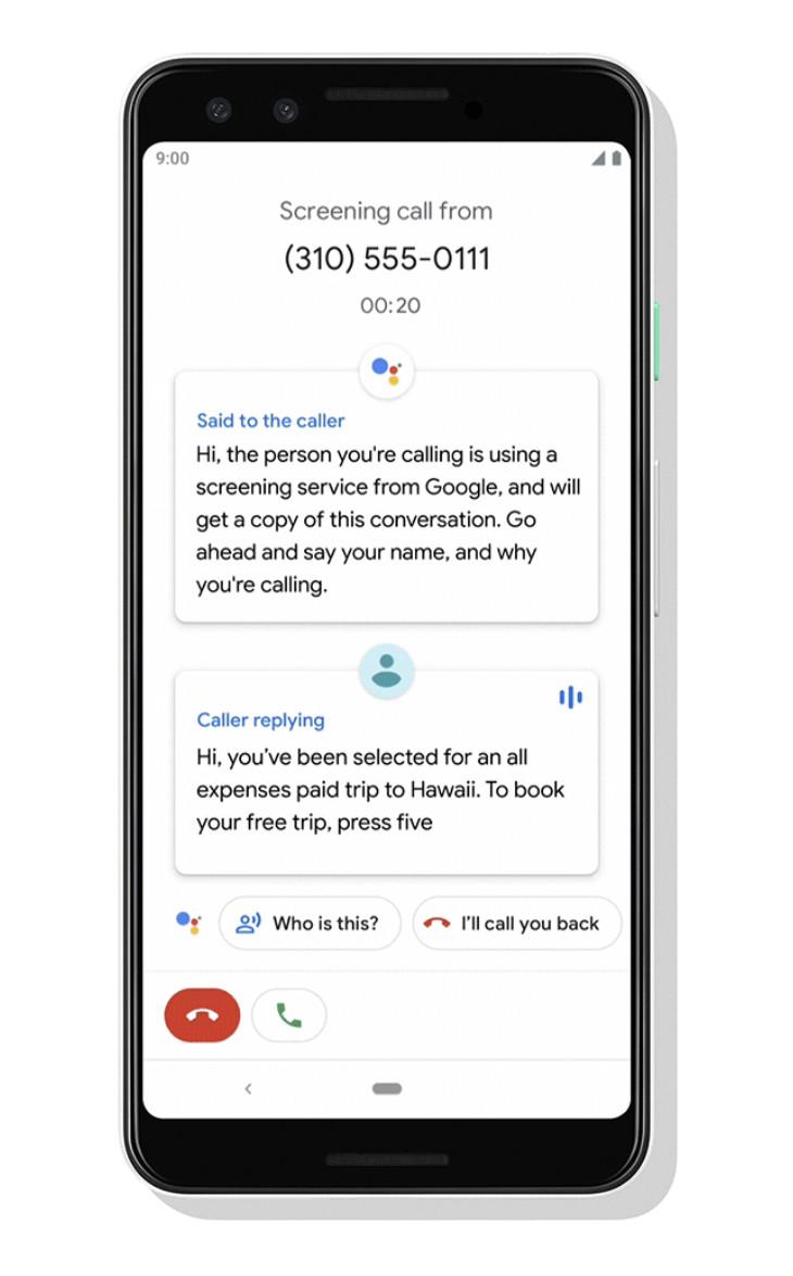 Google call screen demo