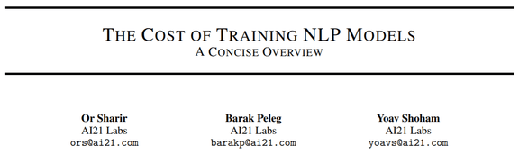 AI21 Labs Asks: How Much Does It Cost to Train NLP Models?