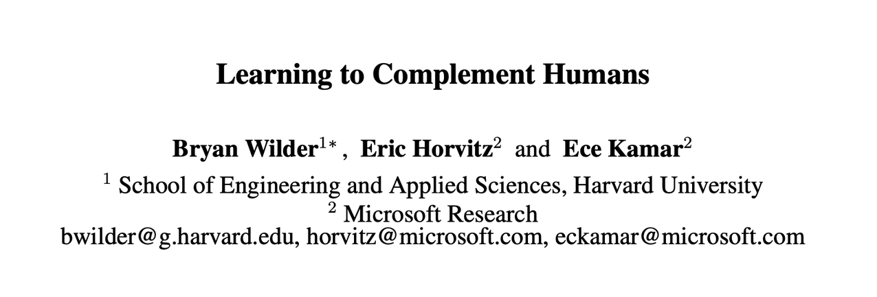Cooperation Instead of Competition: Harvard & Microsoft Research Optimizes AI-Human Teamwork