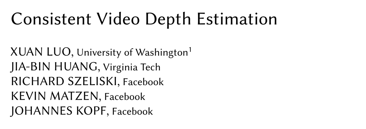 Consistent Video Depth Estimation: Generating HQ Depth Maps From Single Video Input