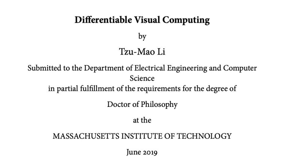 Computer graphics phd thesis