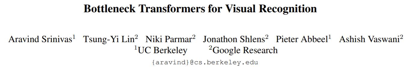 UC Berkeley & Google's BoTNet Applies Self-Attention to CV Bottlenecks