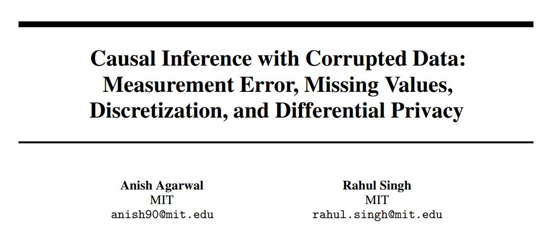 MIT Proposes Novel End-to-End Procedure for Corrupted Data Cleaning, Estimation, and Inference