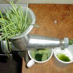wheatgrass juicing machine