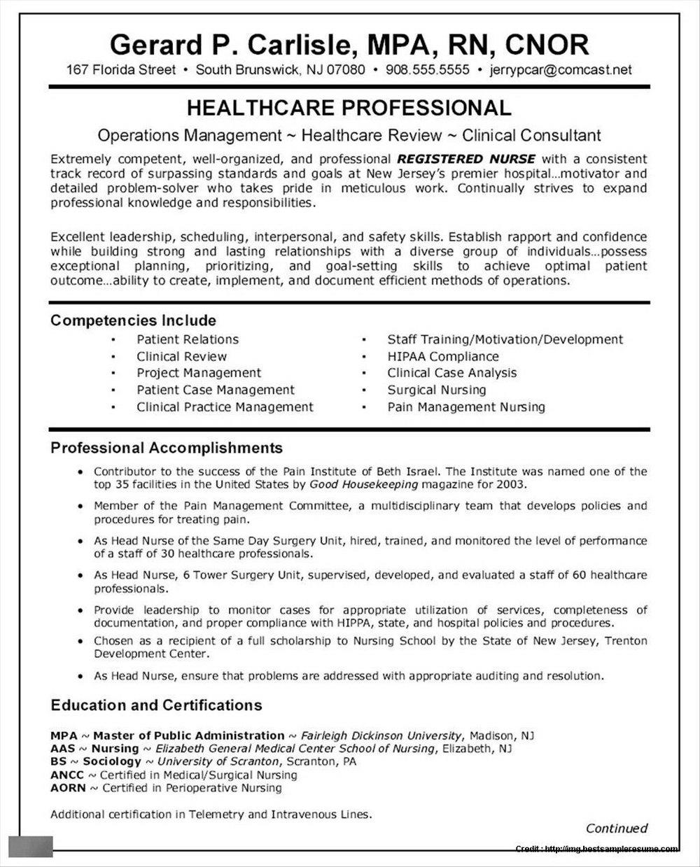 Application For Nursing Job Sample