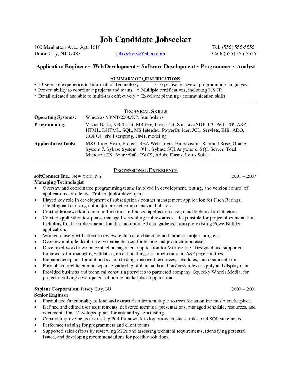 Asp Net Mvc Developer Resume